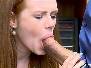 Ella Hughes porked nutsack deep by insane mall cop