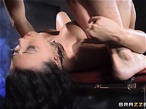 Rachel Starr enjoys some oily joy in front of her hubby