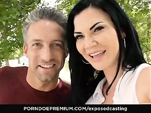 exposed audition Jasmine Jae poked in hot casting