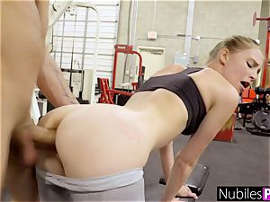 lovely nympho begs For shaft At Gym