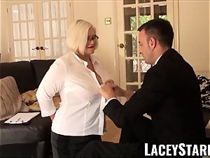 LACEYSTARR - enslaved GILF bum wedged by Pascal milky