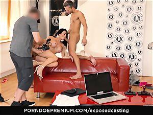 exposed audition - porn starlet Jasmine Jae MMF threesome