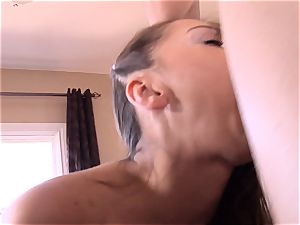 Pint sized Sara Luvv bangs her fathers friend