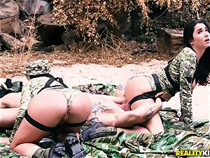 Angela milky, Karlee Grey - steamy army bitches with meaty melons