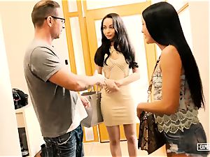 ExposedCasting - assfuck three way casting with euro babes