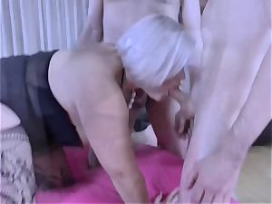 LACEYSTARR - greedy grannie group-fucked