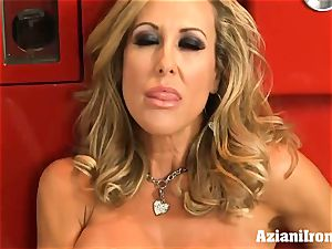 torn up Brandi love disrobes and jacks