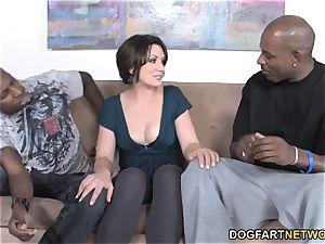 assfuck babe Sarah Shevon multiracial double penetration