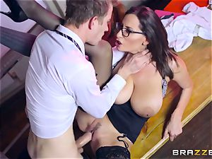 Lusty college girl Ella Hughes and her big-titted educator voluptuous Jane need your gigantic hard lollipop