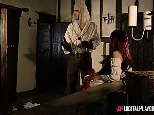 Danny D fools around as Geralt and fucks black-haired stunner