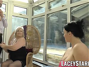 LACEYSTARR - Pascal romping Lacey Starr and her acquaintance