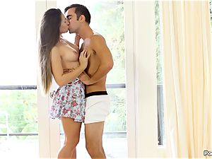 Cassidy Klein puts on a solo display for her boy