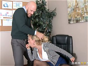 milf manager Cherie Deville gets shafted by a huge dicked worker