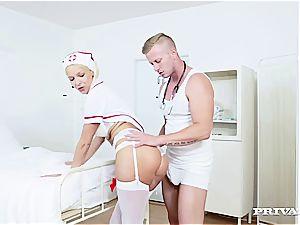 Nurse Karol Lilien treats a Patient to Her warm vag