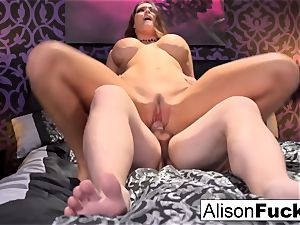 big-titted Alison gets poked hard