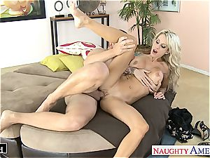 gorgeous Sarah Jessie smooched and drilled properly