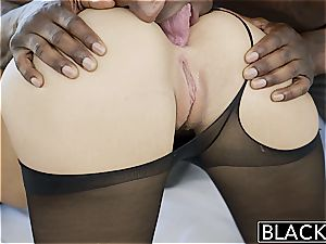 wonderful Jillian Janson takes a black bulge in her cock-squeezing booty