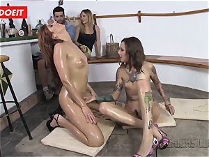 LETSDOEIT - Spanish girls enjoy hot girl/girl fuckfest