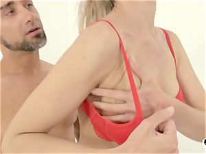 HER confine - scorching Russian ash-blonde caboose romped hardcore