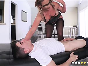 youthful unexperienced student gets his meatpipe throated by brutal busty lecturer Phoenix Marie