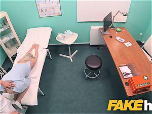 faux hospital fast poking gives platinum-blonde huge bumpers brit