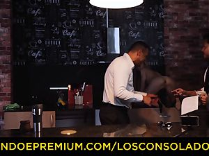 LOS CONSOLADORES - Hungarian blond gets pounded point of view