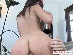 big-chested black-haired Jayden Jaymes gobbles a immense chisel