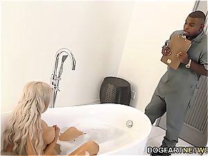 hotwife beau watches Nina Elle nailing big black cock