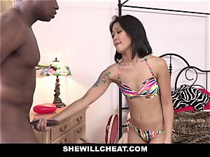SheWillCheat - japanese wifey penetrates big black cock fellow