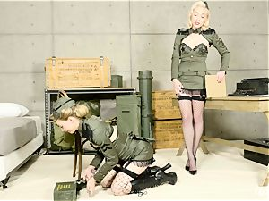 Lily Labeau and Ivy Wolfe army babes gash have fun