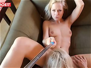 fledgling nubile gets professional consolation from couple