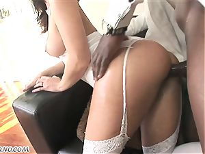 dark-hued master enjoyed his youthfull ample butt maid Jada Stevens
