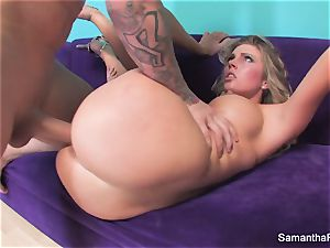 Samantha Saint gets her tight rosy fuckbox ravaged