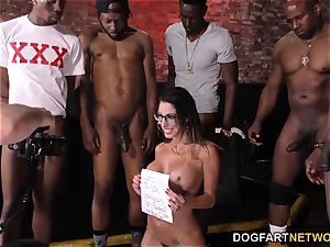 Dava Foxx bi-racial gang-fuck