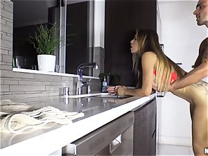 Yurizan Beltran hammered stiff after caught with the flogged splooge and dancing