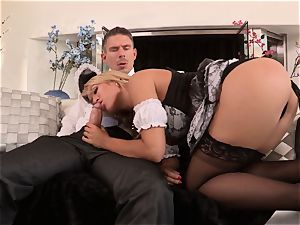 killer maid Capri Cavanni smashed by a super-naughty customer