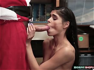 nubile Latina Katya Rodriguez caught stealing and gets her cooch plowed