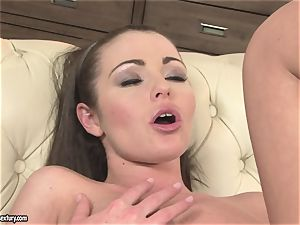 Nelly Sullivan red-hot stunner kissing a mature hoe