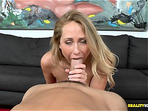 Carter Cruise gets her throat round a monster
