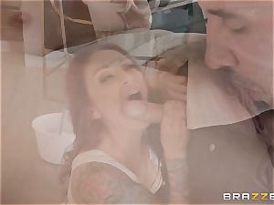 Monique Alexander riding rigid on top
