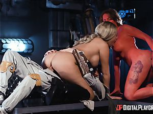 Monster penis craving space bombshells Athena Palomino and Carly Rae