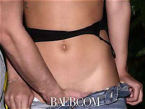 BAEB Latina Gina Valentina opens up fuckbox for sofa plumb