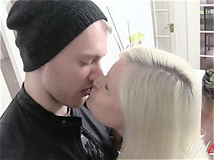 AgedLovE busty Lacey Starr hard-core and bj