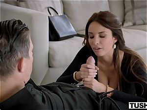 TUSHY gorgeous French doll likes anal invasion