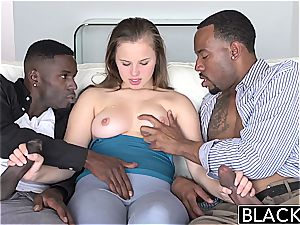 BLACKED Minnesota nubile very first multiracial 3some