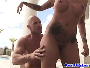Austin Lynn gets extra crazy for the man sausage of Johnny Sins