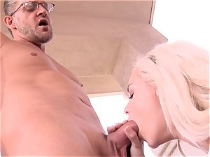 supah sweet Elsa Jean takes no time accepting this ginormous rod