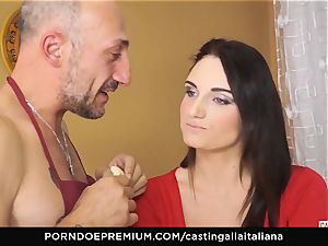 casting ALLA ITALIANA - huge-titted dark haired loves humid buttfuck