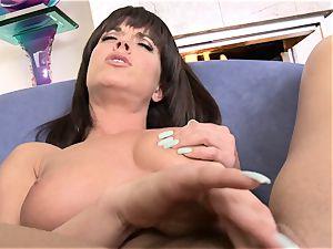 Rahyndee James frigs her humid pussyhole
