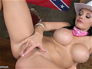 super-hot Aletta Ocean fingers her running in rivulets cunt